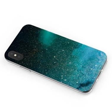Lopard Apple iPhone Xs Max Kılıf Yeşil Geceler Kapak Renkli